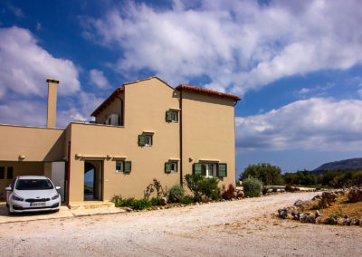 Patricks Villa Photographs. Rear View of House and Garage_